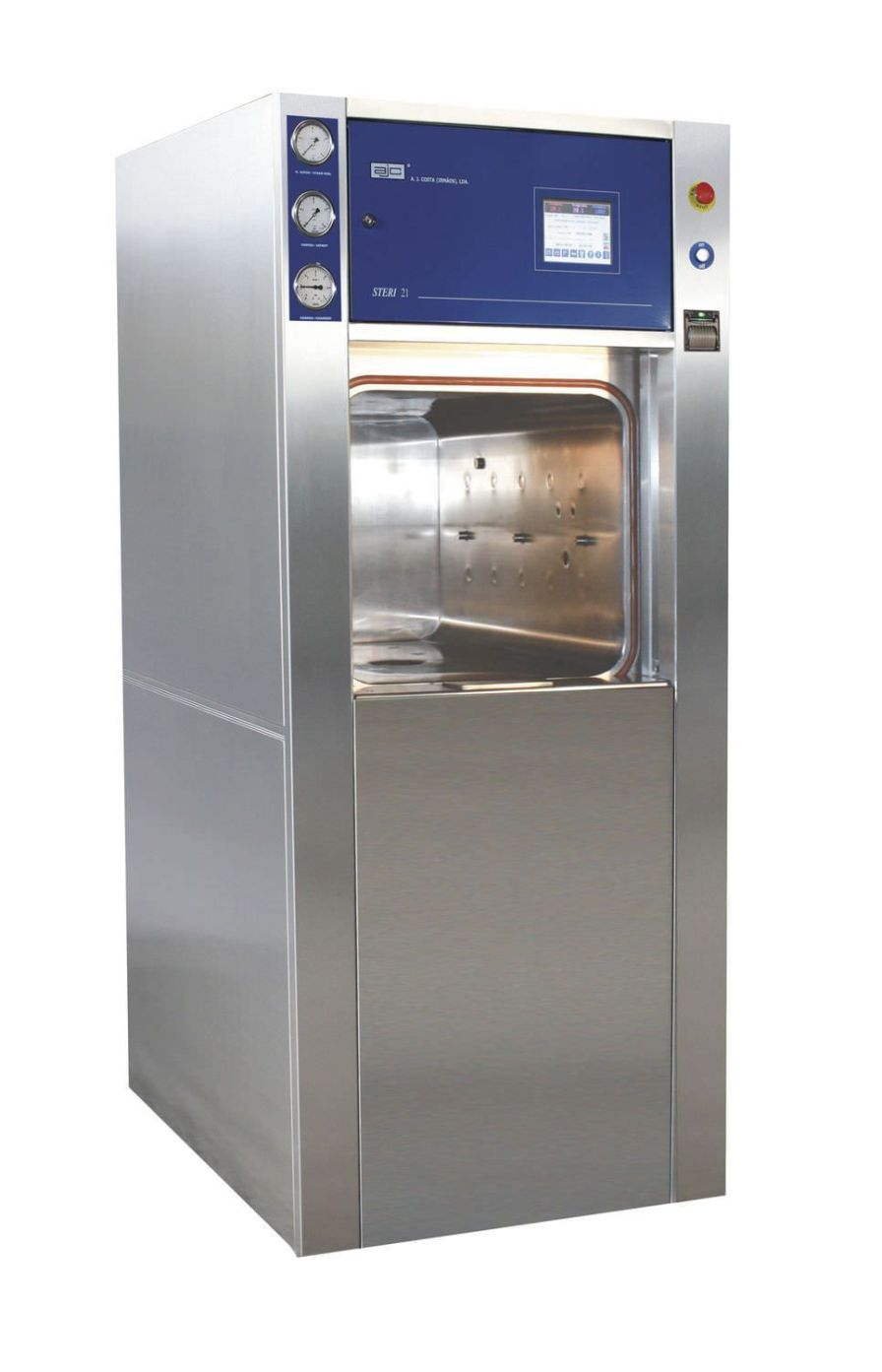 Medical autoclave / vertical / with sliding door Steri 21 ajcosta