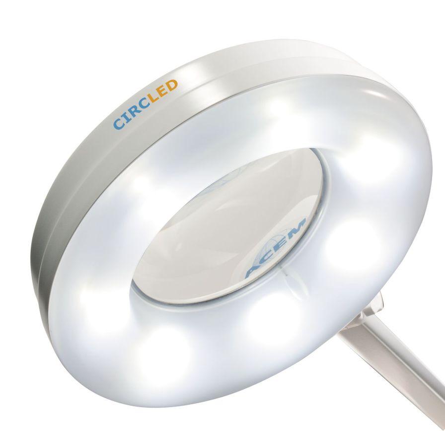 LED examination lamp / magnifying CIRCLED® ACEM Medical Company