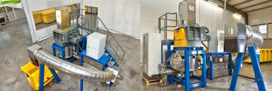 Waste treatment system with sterilizer / with shredder / microwave / medical Ecosteryl-75 AMB