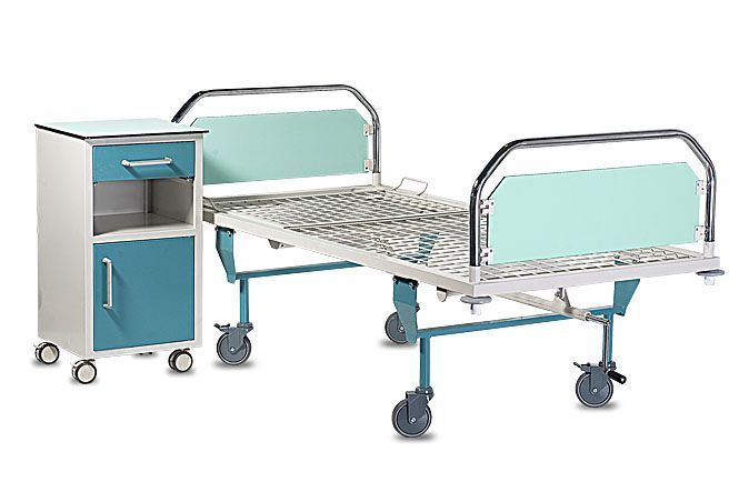 Mechanical bed / height-adjustable / 2 sections HERMES A.A.MEDICAL