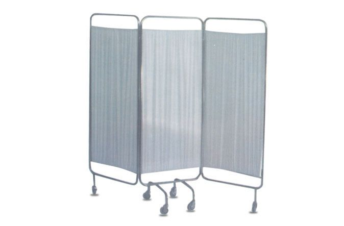 Hospital screen / on casters / 3-panel HMF-1410 A.A.MEDICAL