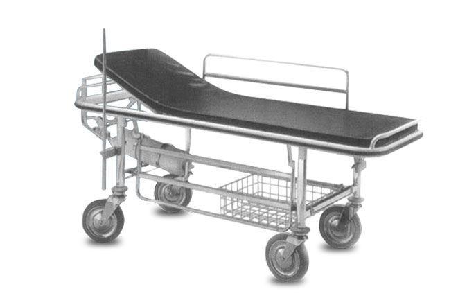 Transport stretcher trolley / mechanical / 2-section HMF-1070 A.A.MEDICAL