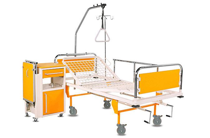 Mechanical bed / height-adjustable / 2 sections AFRODITE A.A.MEDICAL
