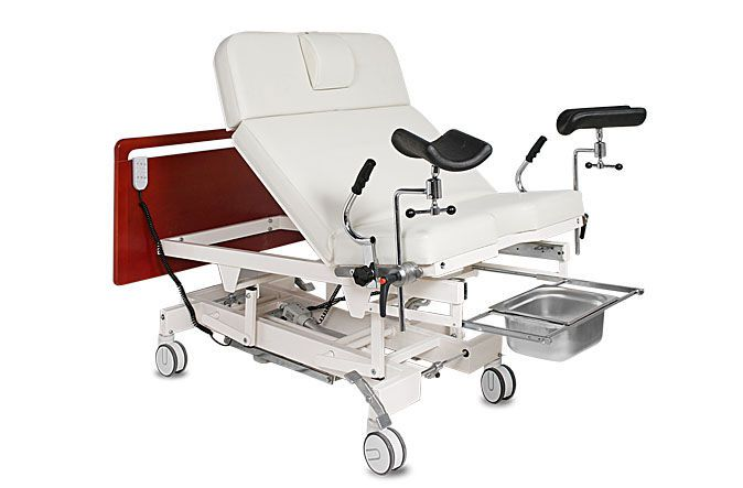 Delivery bed / electrical / on casters / 3 sections Lito plus Lux A.A.MEDICAL