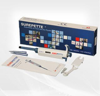 Mechanical micropipette / variable volume / with ejector 0.5 - 5000 µl | SUREPETTE® Series AccuBioTech