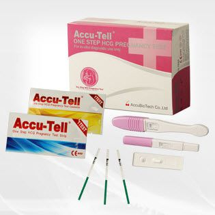 Pregnancy test kit ABT-FT-A1, ABT-FT-B1 AccuBioTech