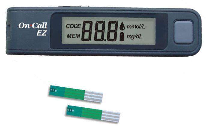 Blood glucose meter 20 - 600 mg/dL | On Call® EZ Acon Diabetes Care International