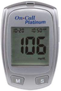 Blood glucose meter 10 - 600 mg/dL | On Call® Platinum Acon Diabetes Care International