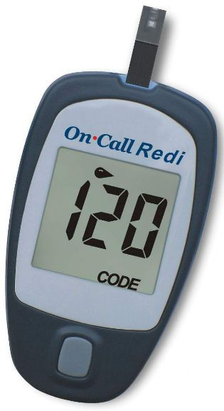Blood glucose meter 20 - 600 mg/dL | On Call® Redi Acon Diabetes Care International