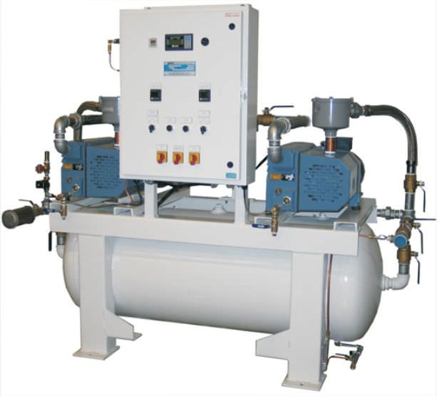 Medical vacuum system / rotary vane / lubricated CP10X2R60-MED Air Power Products
