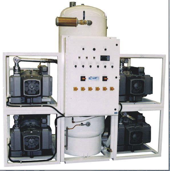 Medical vacuum system / rotary vane / oil-free VTLF250X5V240-MED Air Power Products