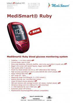 MediSmart® RUBY blood glucose monitoring system