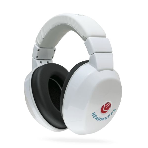 Passive white Hearmuffs for kids hearing protection