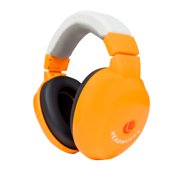 Orange Earmuffs designed for kids