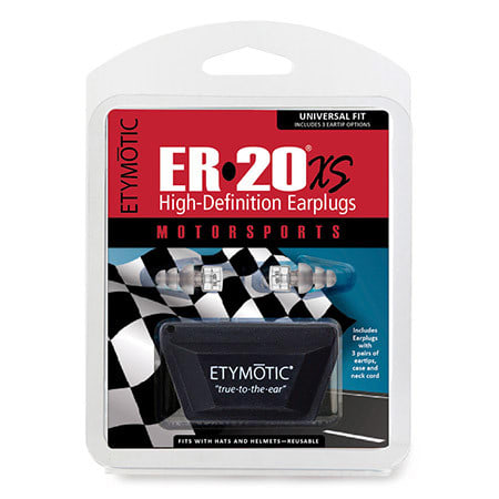 ER20XS earplugs motorsport front