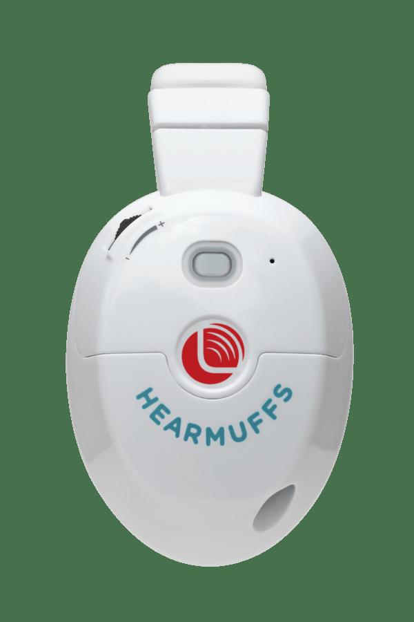 Trio-3-side white hearmuffs for kids
