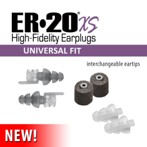 ER20XS Universal fit High-fidelity earplugs