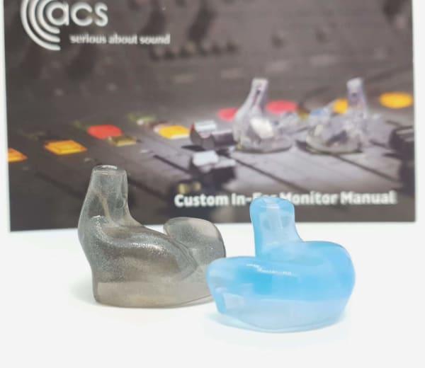 Custom made Slate Grey Blue In-Ear Monitors