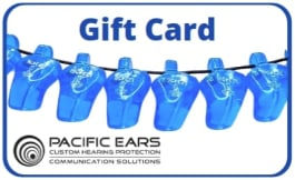 Gift card voucher for earplugs