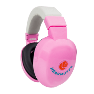 Pink Hearmuffs, hearing protection for kids, toddlers and infants