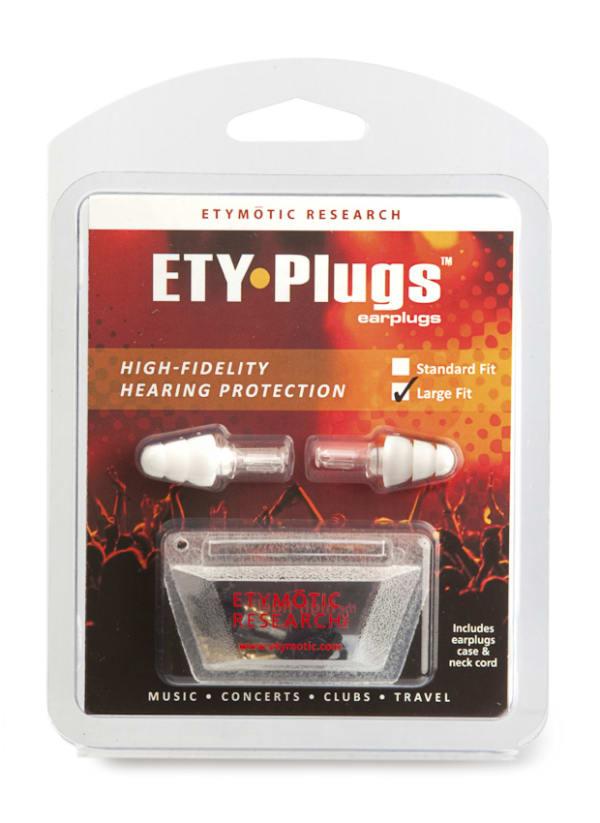 Etymotic Research ETY-Plugs High Fidelity Earplugs Large