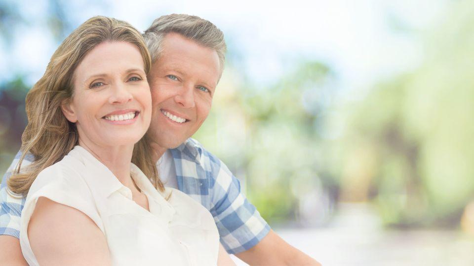 Photo of smiling couple