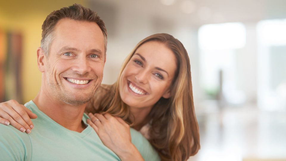 Photo of smiling couple