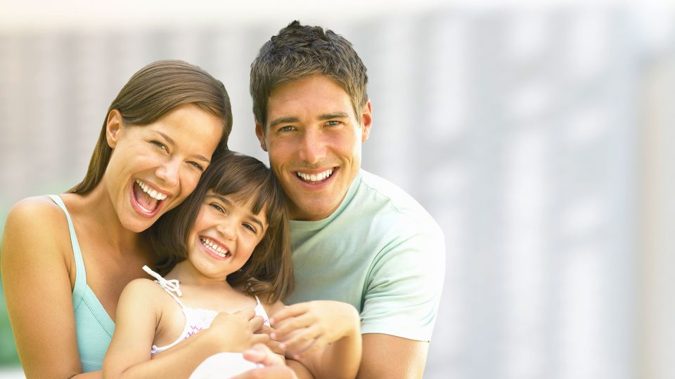Photo of smiling family