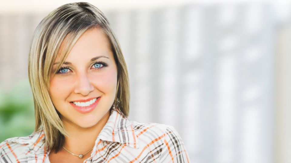 Photo of smiling woman