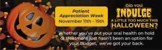 Patient Appreciation Week. November 11th - 15th