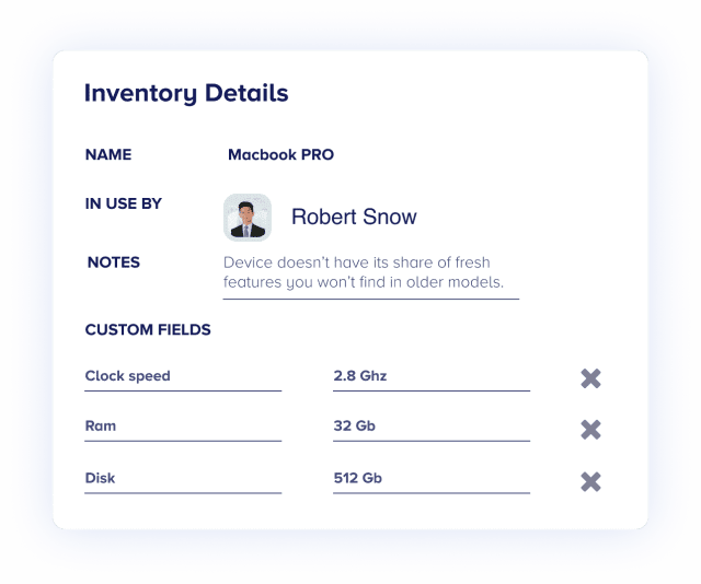 Track inventories in real-time