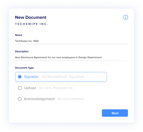 Easily create documents using templates