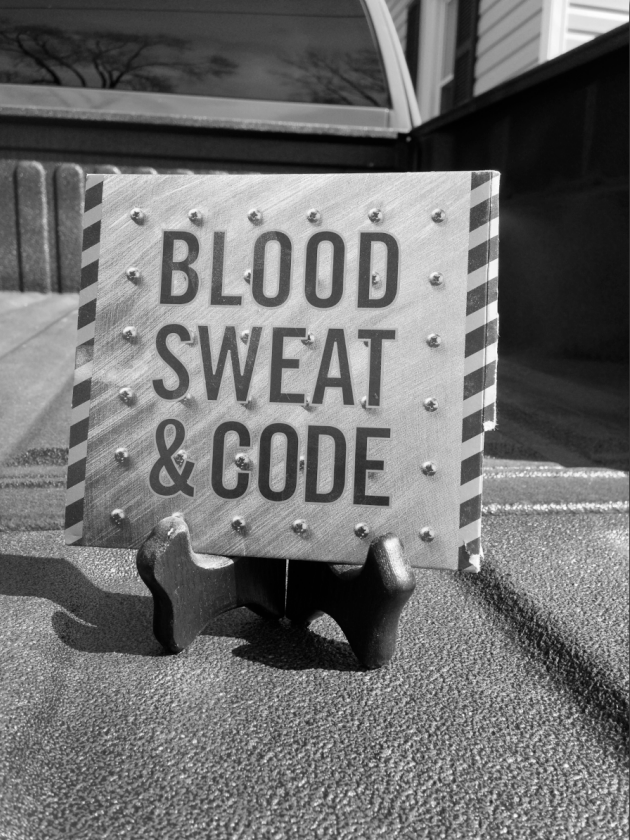 Blood, sweat and code