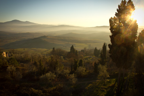 Tuscan Hills in Italian countryside