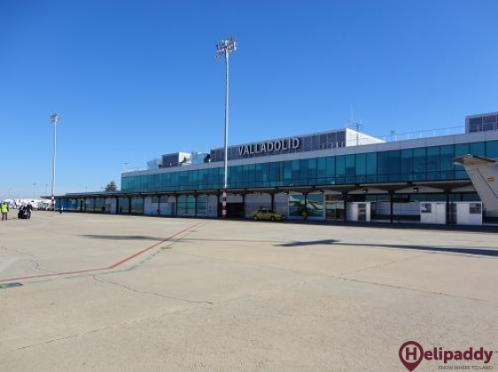 Valladolid Airport by helicopter