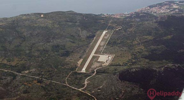 Brac Airport by helicopter