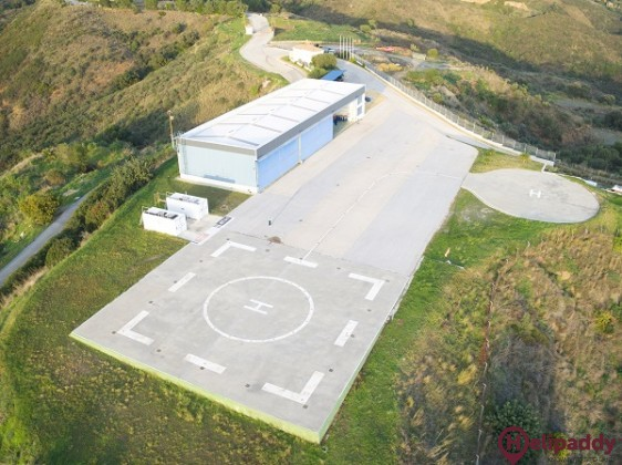 Marbella Heliport by helicopter