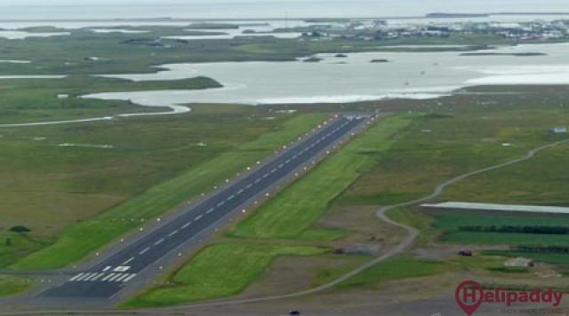 Hornafjörður Airport by helicopter