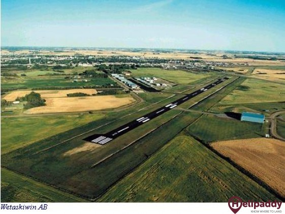 Wetaskiwin Regional Airport by helicopter