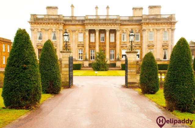 Heythrop Park Resort by helicopter
