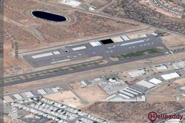 Cottonwood Airport by helicopter