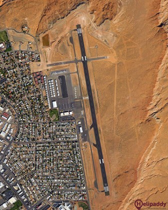 Page Municipal Airport by helicopter