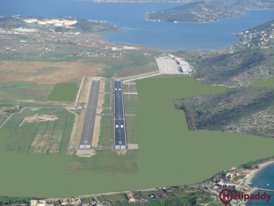 Megara Airport by helicopter