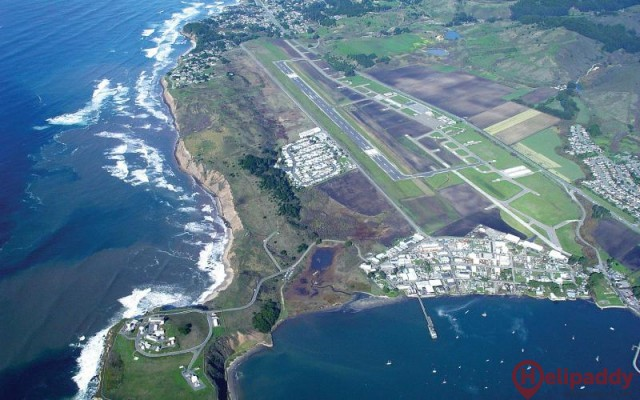 Half Moon Bay Airport by helicopter