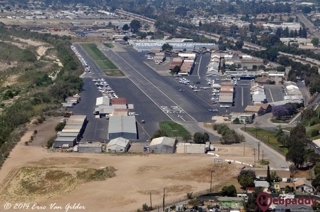Santa Paula Airport by helicopter