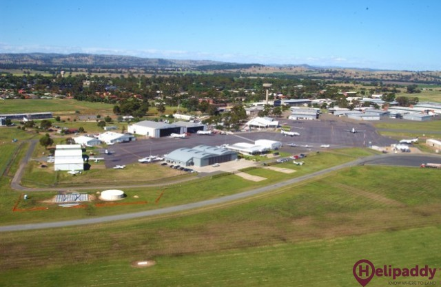Wagga City Aero Club by helicopter