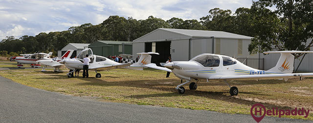 Kempsey Airport by helicopter