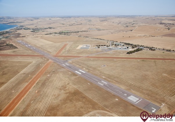 Port Lincoln Airport by helicopter