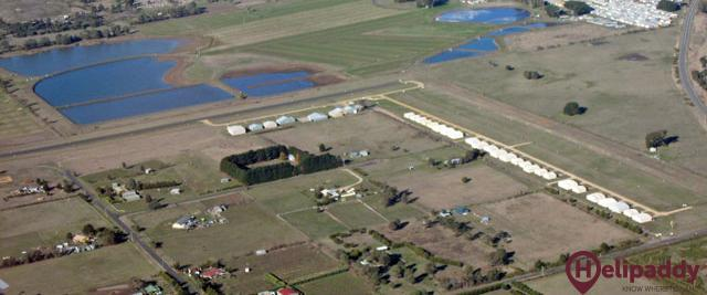 Kyneton Airfield by helicopter