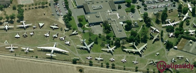Merced County Airport/Castle Air Museum by helicopter